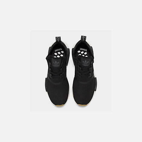 Back view of Men's adidas NMD Runner R1 Casual Shoes in Core Black/Gum