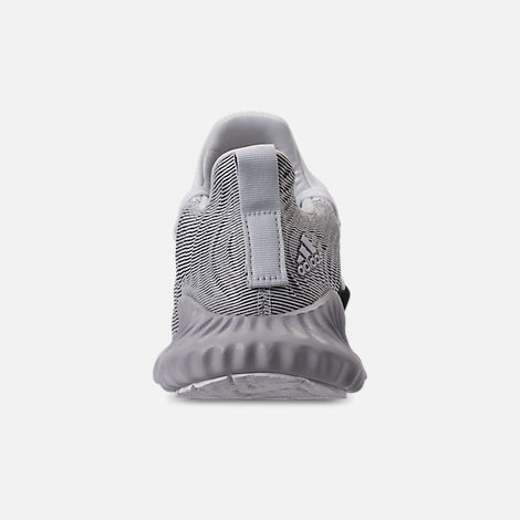 Back view of Boys' Big Kids' adidas AlphaBounce Instinct Running Shoes in Footwear White/Grey Two/Core Black