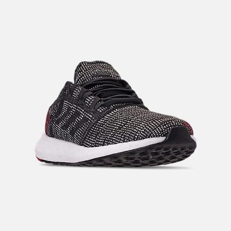 54ac1db44e1fa Three Quarter view of Boys  Big Kids  adidas PureBOOST GO Running Shoes in  Carbon