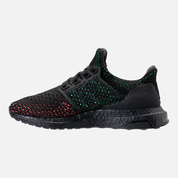Left view of Big Kids' adidas UltraBOOST Clima Running Shoes in Core Black/Core Black/Solar Red