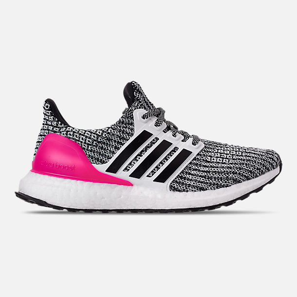 23a636d453516 Right view of Girls  Big Kids  adidas UltraBOOST Running Shoes in Feather  White