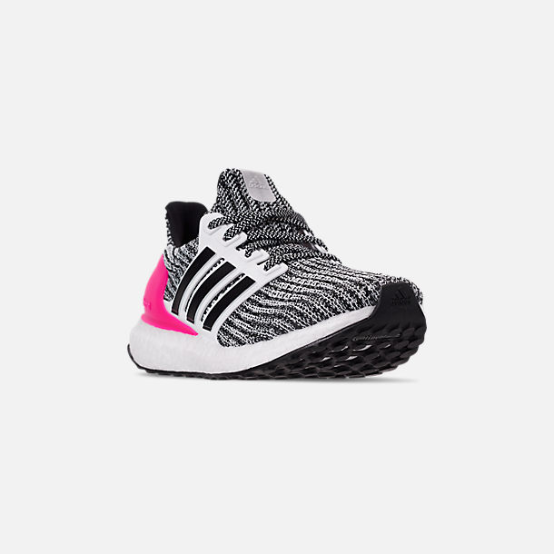 58ec5dc00 Three Quarter view of Girls  Big Kids  adidas UltraBOOST Running Shoes in  Feather White