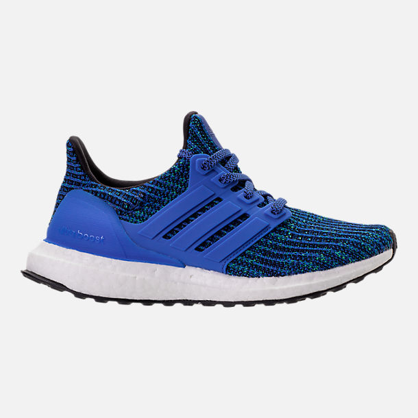 12a9d2ba52f13e Right view of Big Kids  adidas UltraBOOST 3.0 Running Shoes in Hi-Res Blue