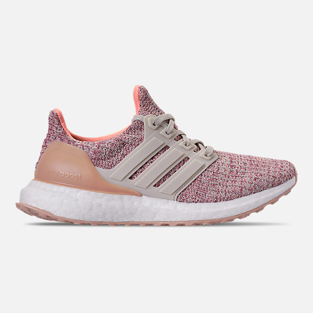 Right view of Big Kids' adidas UltraBOOST 3.0 Running Shoes in Trace Maroon/Clear Brown/Chalk Coral