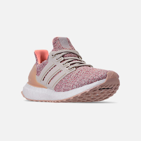 5dc12991015 Three Quarter view of Girls  Big Kids  adidas UltraBOOST Running Shoes in  Trace Maroon