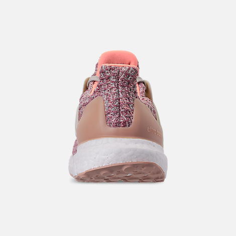 Front view of Big Kids' adidas UltraBOOST 3.0 Running Shoes in Trace Maroon/Clear Brown/Chalk Coral