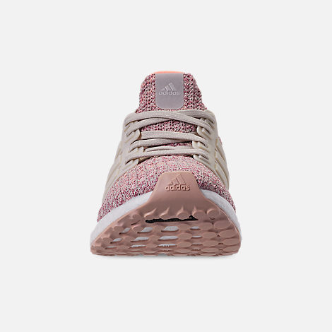 Back view of Big Kids' adidas UltraBOOST 3.0 Running Shoes in Trace Maroon/Clear Brown/Chalk Coral
