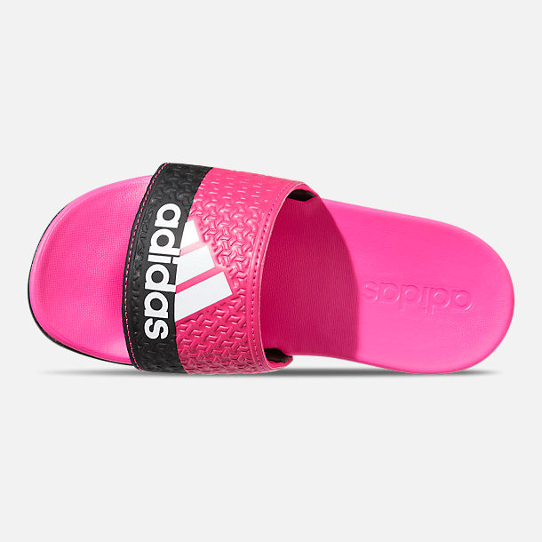 dd23d288a11a2 Top view of Girls  Big Kids  adidas Adilette Comfort Slide Sandals in Shock  Pink
