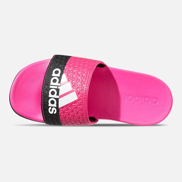 big sale 98c21 6eb47 Top view of Girls Big Kids adidas Adilette Comfort Slide Sandals in Shock  Pink