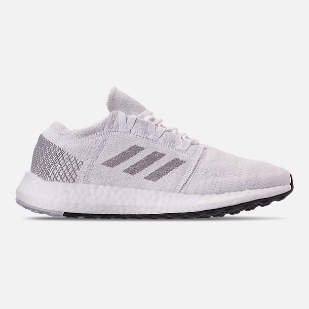 Right view of Women s adidas PureBOOST GO Running Shoes in White Solid  Grey Grey a0884d0a7