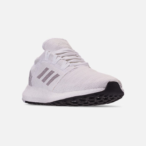 Three Quarter view of Women s adidas PureBOOST GO Running Shoes in  White Solid Grey  ae2737dd3