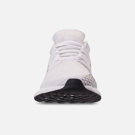 Front view of Women s adidas PureBOOST GO Running Shoes in White Solid  Grey Grey 2d670baff