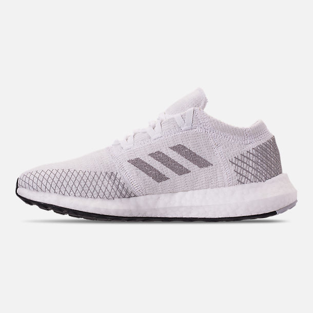 97ca1357757439 Left view of Women s adidas PureBOOST GO Running Shoes in White Solid  Grey Grey