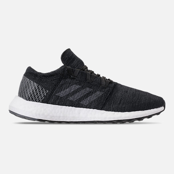 Right view of Women's adidas PureBOOST GO Running Shoes in Core Black/Grey Five/Grey Four