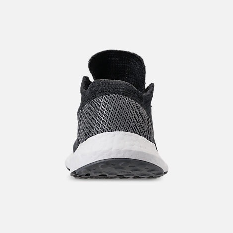 Back view of Women's adidas PureBOOST GO Running Shoes in Core Black/Grey Five/Grey Four