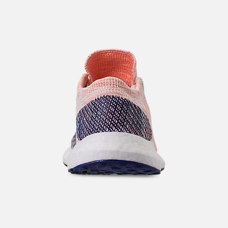 Back view of Women's adidas PureBOOST GO Running Shoes in Cloud White/White/Mystery Ink