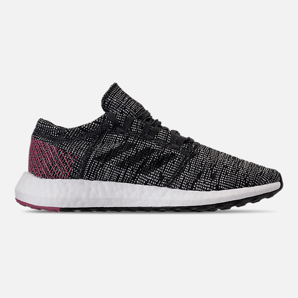 114c5f5a0cef Right view of Women s adidas PureBOOST GO Running Shoes in  Carbon Carbon Trace Maroon