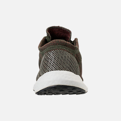 Back view of Women's adidas PureBOOST GO Running Shoes in Base Green/Night Cargo/Trace Maroon
