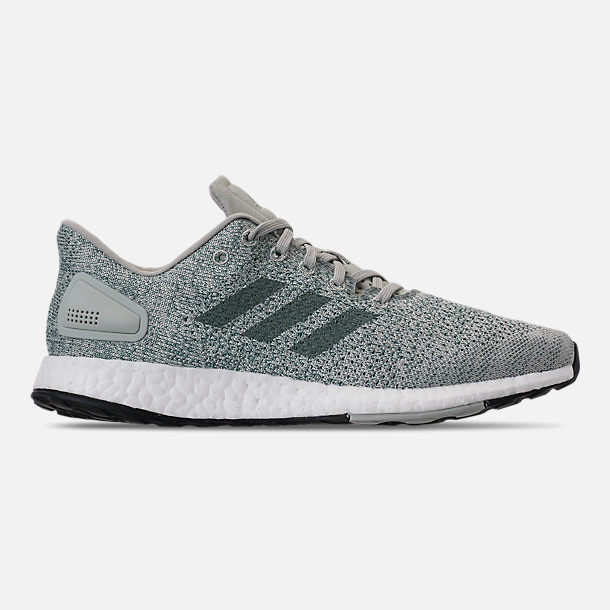 new arrivals 53cc9 199a4 Right view of Womens adidas PureBOOST DPR Running Shoes in Ash SilverRaw  Green
