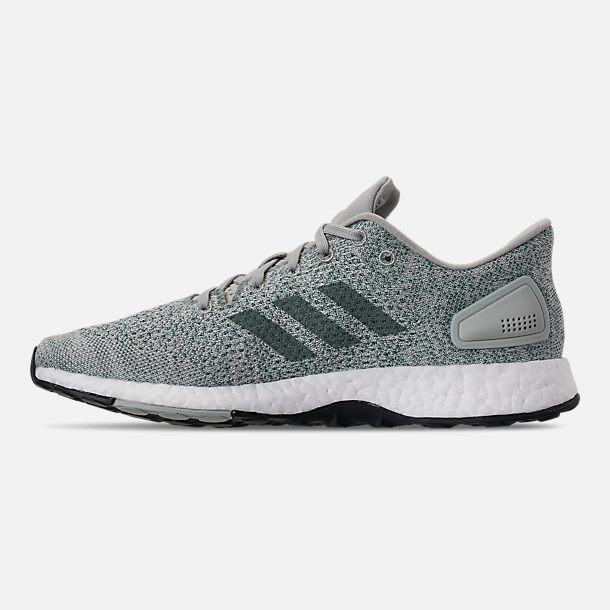 21e3d8d7267d Left view of Women s adidas PureBOOST DPR Running Shoes in Ash Silver Raw  Green