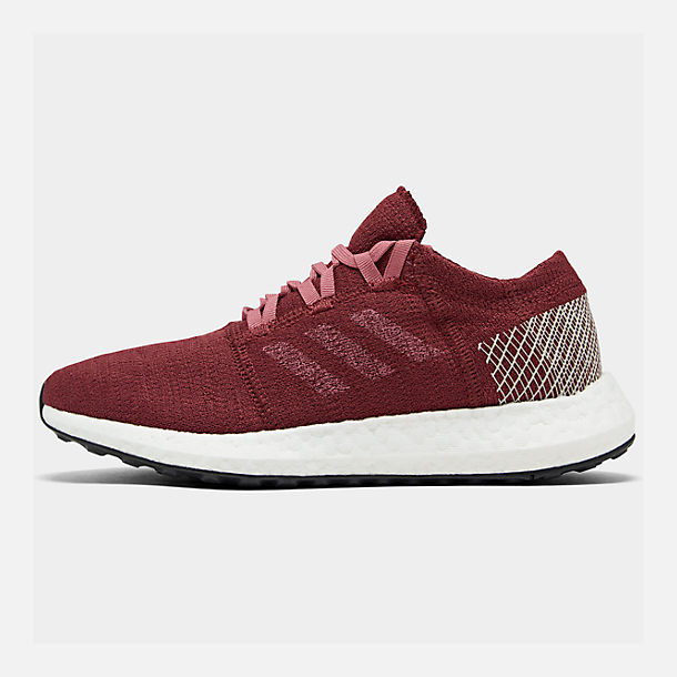 Right view of Women's adidas PureBOOST GO Running Shoes in Noble Maroon/Trace Maroon/Clear