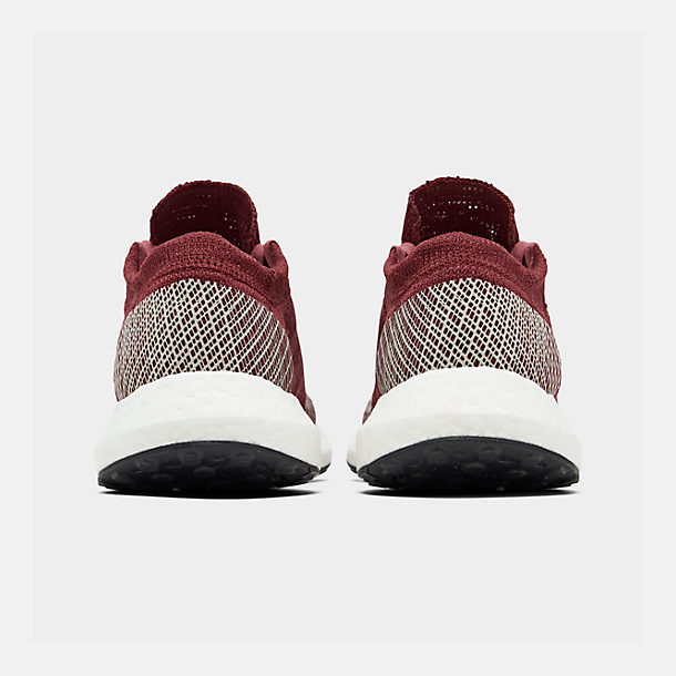 Left view of Women's adidas PureBOOST GO Running Shoes in Noble Maroon/Trace Maroon/Clear