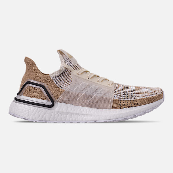 e244c8221743 Right view of Women s adidas UltraBOOST 19 Running Shoes in Chalk White Pale  Nude