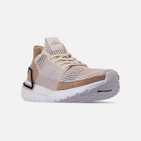 79e47ffb6a96 Three Quarter view of Women s adidas UltraBOOST 19 Running Shoes in Chalk  White Pale Nude