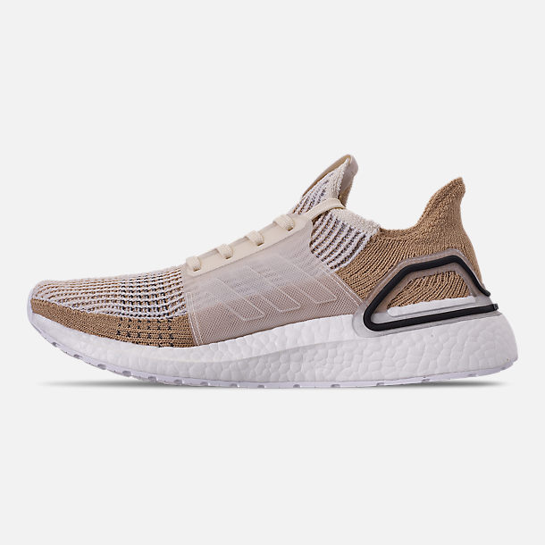 28e84681413 Left view of Women s adidas UltraBOOST 19 Running Shoes in Chalk White Pale  Nude