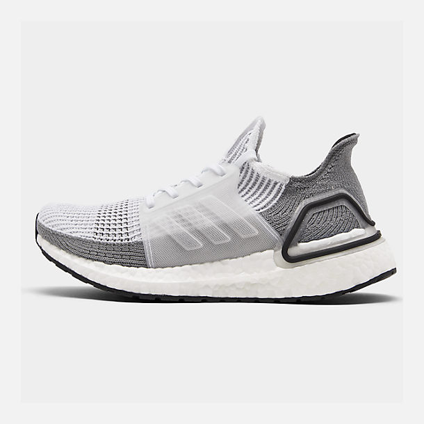 Right view of Women's adidas UltraBOOST 19 Running Shoes in White/White/Grey