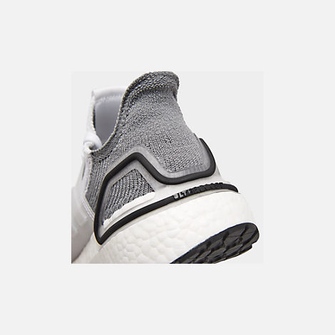 Front view of Women's adidas UltraBOOST 19 Running Shoes in White/White/Grey