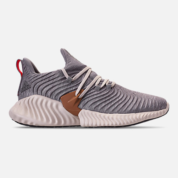 bcfb9f7004121d Right view of Men s adidas AlphaBounce Instinct Running Shoes in Core  Heather Clear Brown