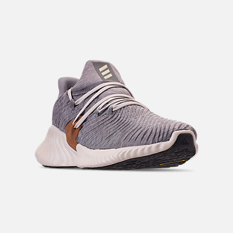 huge selection of 68fe2 9fa70 Three Quarter view of Mens adidas AlphaBounce Instinct Running Shoes in  Core HeatherClear Brown