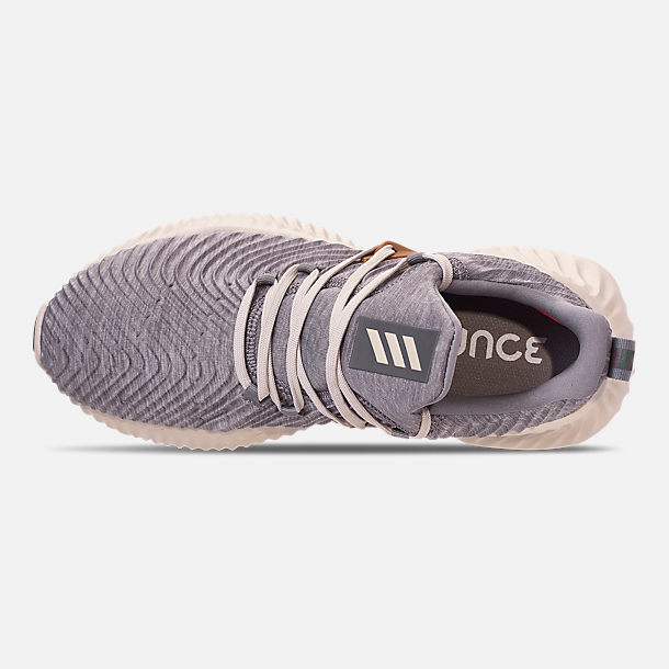 super popular 5a2ba 20608 Top view of Mens adidas AlphaBounce Instinct Running Shoes in Core HeatherClear  Brown