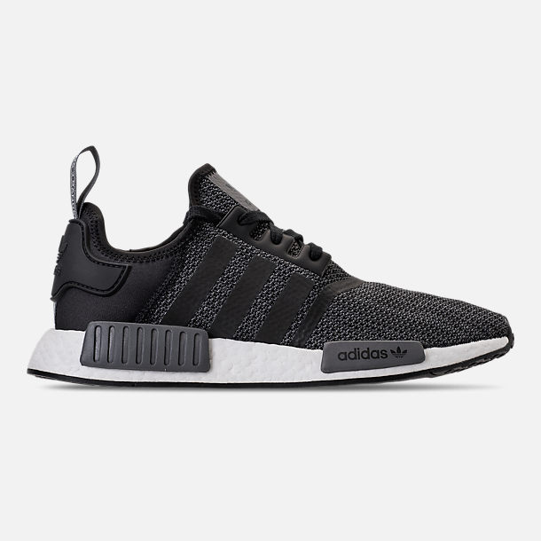 Right view of Men's adidas NMD Runner R1 Casual Shoes in Core Black/Carbon/White