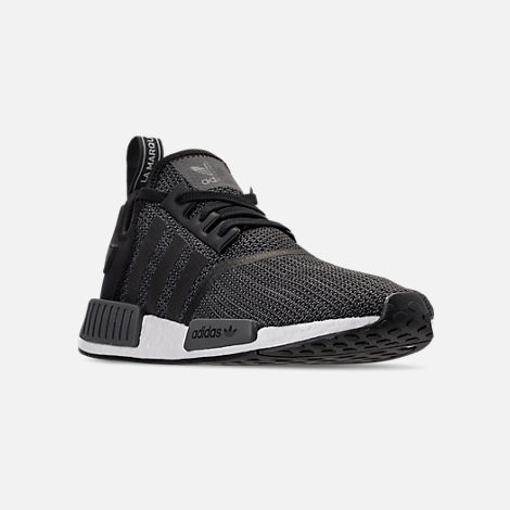 8abc52c39795 Three Quarter view of Men s adidas NMD Runner R1 Casual Shoes in Core  Black Carbon