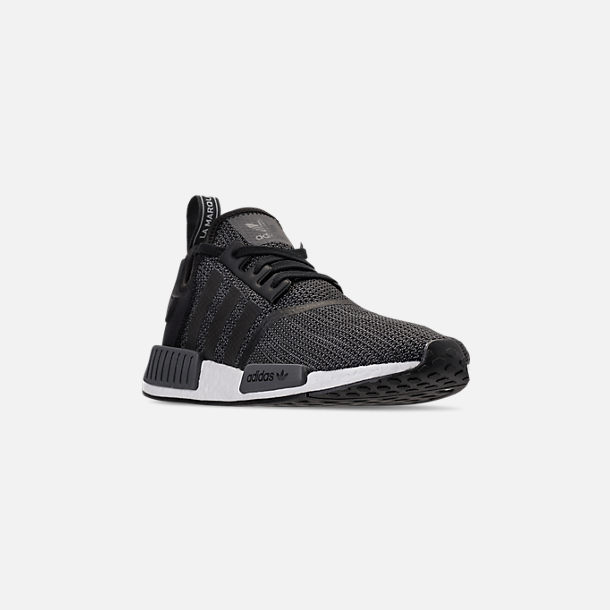 d0129620f Three Quarter view of Men s adidas NMD Runner R1 Casual Shoes in Core Black  Carbon