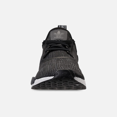 Front view of Men's adidas NMD Runner R1 Casual Shoes in Core Black/Carbon/White