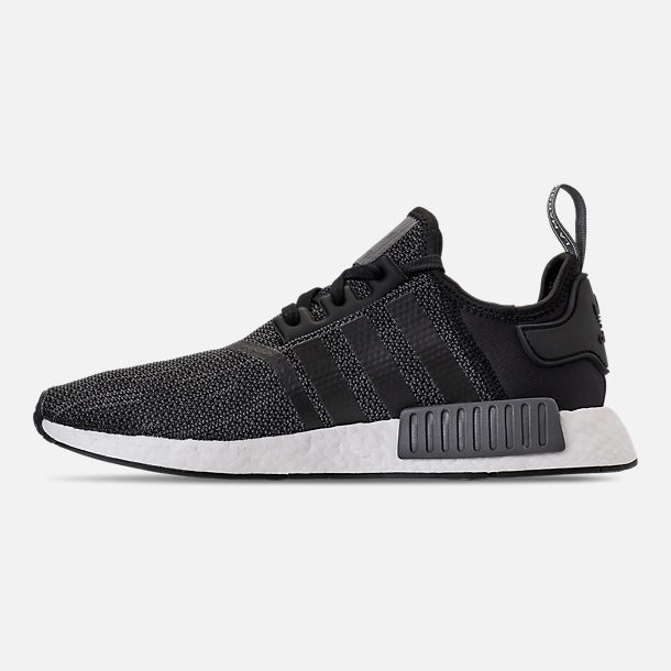 1d3da98c6218d Left view of Men s adidas NMD Runner R1 Casual Shoes in Core Black Carbon