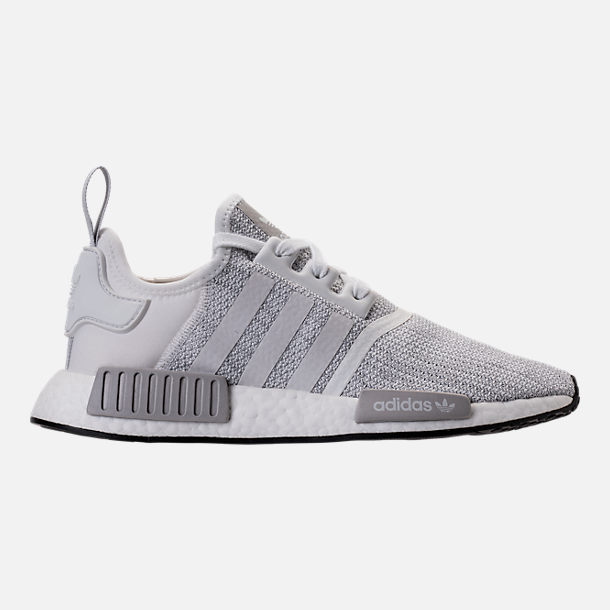 Right view of Men's adidas NMD Runner R1 STLT Primeknit Casual Shoes in Footwear White/Grey/Footwear White