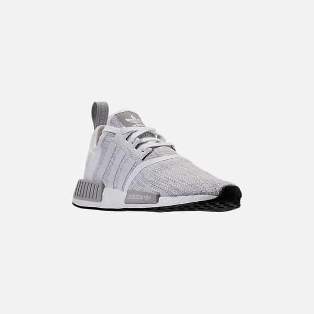 85d18a5bd Three Quarter view of Men s adidas NMD Runner R1 STLT Primeknit Casual  Shoes in Footwear White