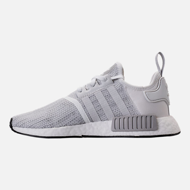 Left view of Men's adidas NMD Runner R1 STLT Primeknit Casual Shoes in Footwear White/Grey/Footwear White