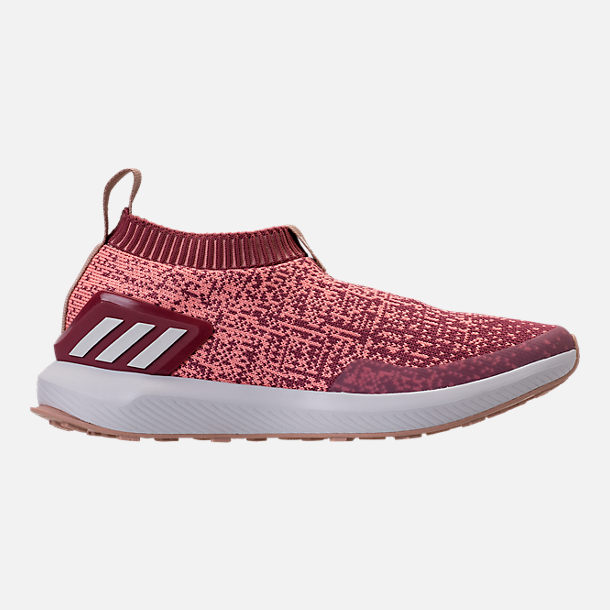 Right view of Girls' Big Kids' adidas RapidaRun Laceless Running Shoes in Trace Maroon/Clear Orange/Ash