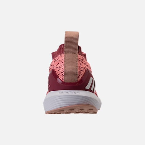 Back view of Girls' Big Kids' adidas RapidaRun Laceless Running Shoes in Trace Maroon/Clear Orange/Ash