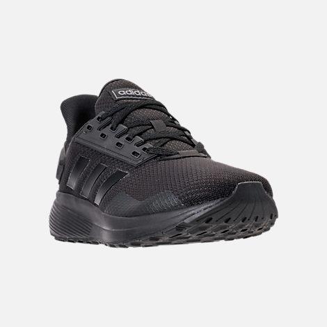 f20f0f3151d Three Quarter view of Men s adidas Duramo 9 Running Shoes in Core Black