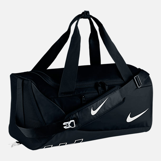 Front view of Kids' Nike Alpha Duffel Bag in Black/White