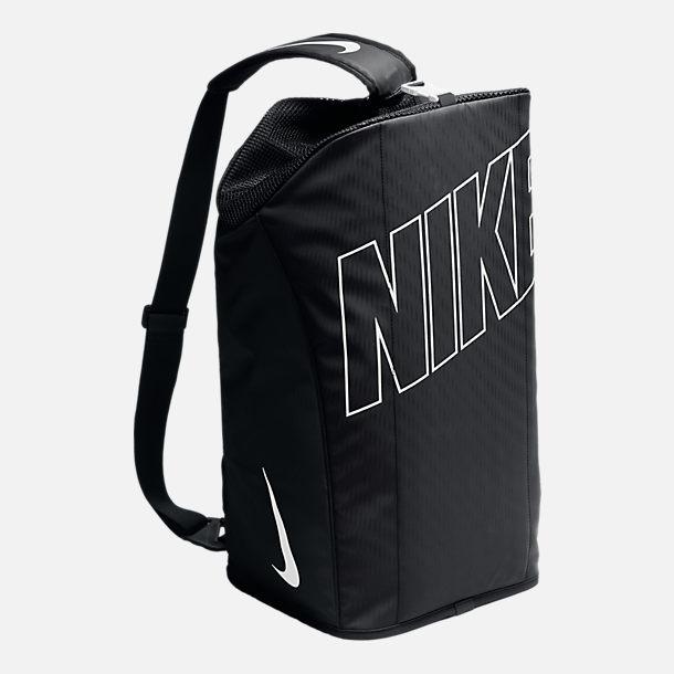 Back view of Kids' Nike Alpha Duffel Bag in Black/White