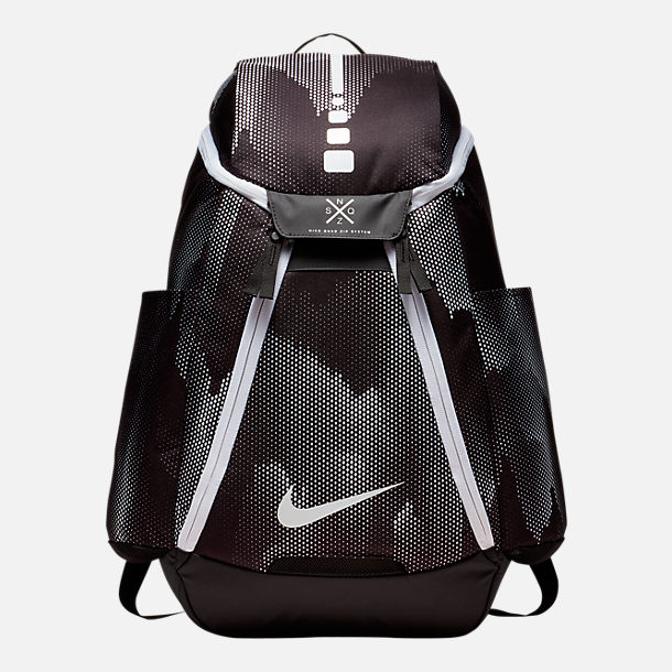 Front view of Nike Hoops Elite Max Air Team 2.0 Backpack in Black/White