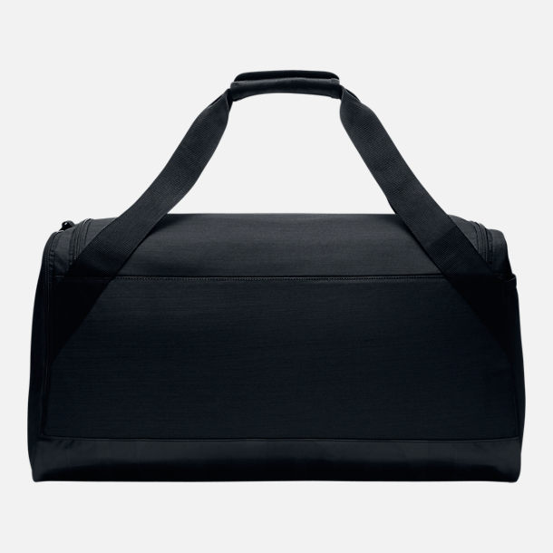 Back view of Nike Brasilia Medium Training Duffel Bag in Black/White