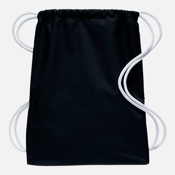 Back view of Nike Heritage Gymsack in Black/White